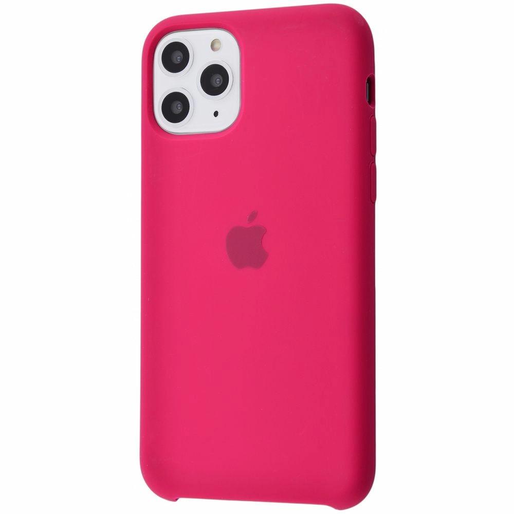 Чехол Silicone Case (Premium) для iPhone 11 Pro Max Rose Red