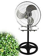 Мощный бытовой электро-вентилятор 2в1 напольный + настольный Domotec MS 1622 для дома и офиса