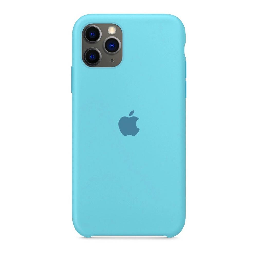 Чехол Silicone Case (Premium) для iPhone 11 Pro Max Sea Blue