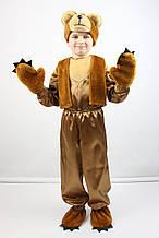 Карнавальный костюм из атласа для мальчика МИШКА бурый, для 3-4, 5-6 и 7-8 лет