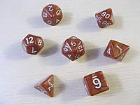 Дайсы (кубики для игр) - комплект 7 шт. Разные цвета.