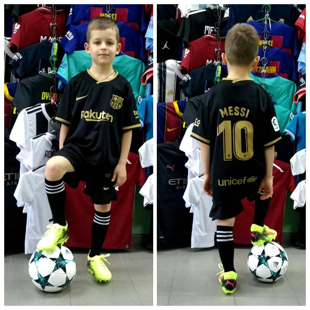 Футбольная форма для детей ФК Барселоны Месси сезон 2020-2021 г