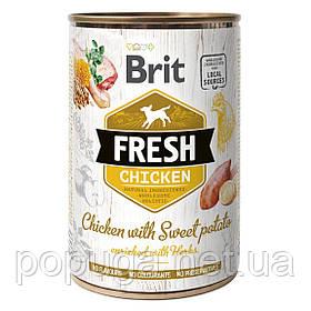 Влажный корм для собак Brit Fresh Chicken with Sweet Potato (курица), 400 г