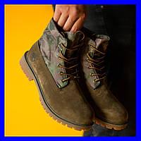 Мужские ботинки Timberland Military Ginger Premium Boots Thermo зимние тимберланд, фото 1