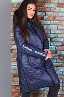 Женская удлиненная курточка, теплая куртка с капюшоном, женская куртка-пуховик на зиму