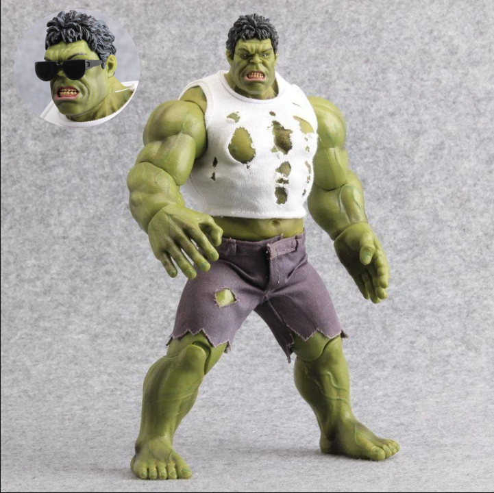 Фигурка Marvel Халк в майке с очками, Комикс Мстители, 26 см - Hulk, Marvel, Comics Avengers