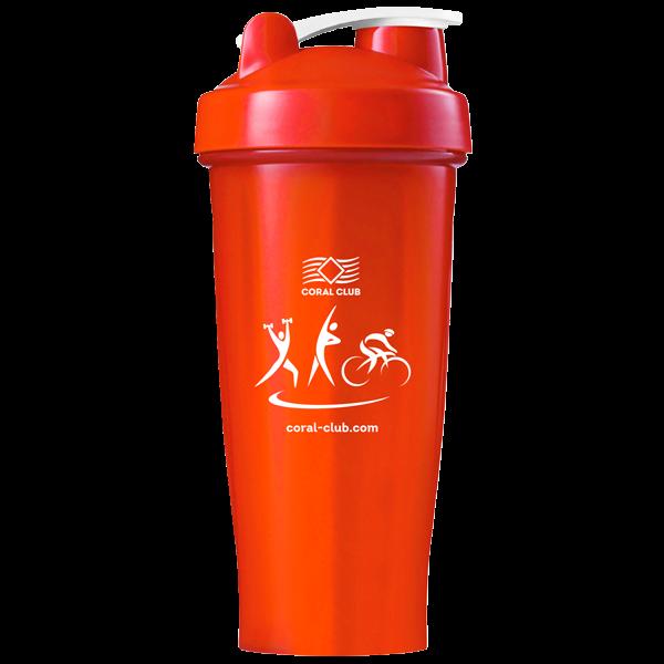 Shaker Coral Club 600 ml, красный - красный