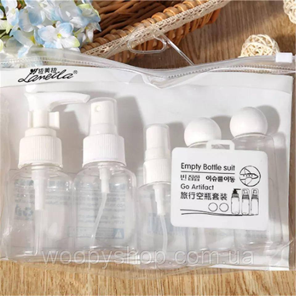 Набор бутылочек для путешествий 5шт/уп белые
