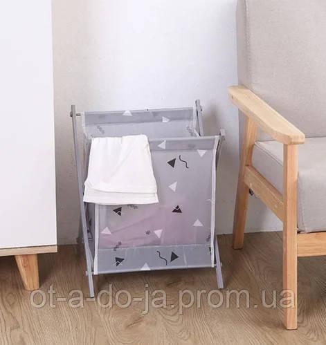 Корзина для белья Laundry Storage Basket СЕРАЯ