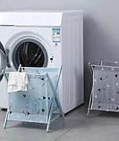 Корзина для белья Laundry Storage Basket СЕРАЯ, фото 2