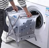 Корзина для белья Laundry Storage Basket СЕРАЯ, фото 6