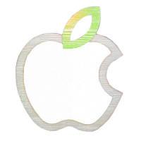 Зеркало - декор Apple SKL11-209621
