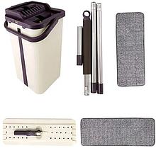 Швабра и ведро с отжимом комплект Mop scratch (WJ38) / Швабра-лентяйка с отжимом