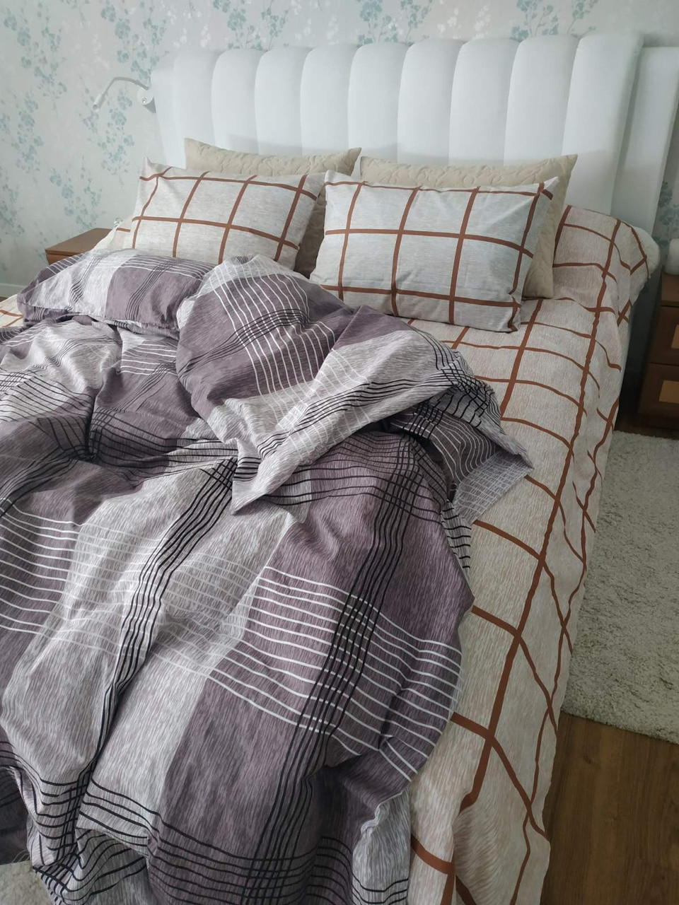 Двуспальный постельный комплект эксель