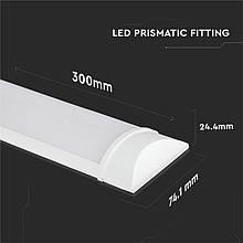 Светильник внутренний линейный LED V-TAC, 10W, SKU-660, Grill Fitting, 300mm, 230V, 4000К, белый