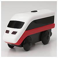 Паровозик на батарейках для дерев'яної залізниці Ikea Lillabo