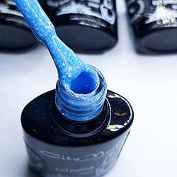 Гель лак блакитний з вкрапленнями City Nail серія Candy Breeze 6мл арт.Гл-до-4-6