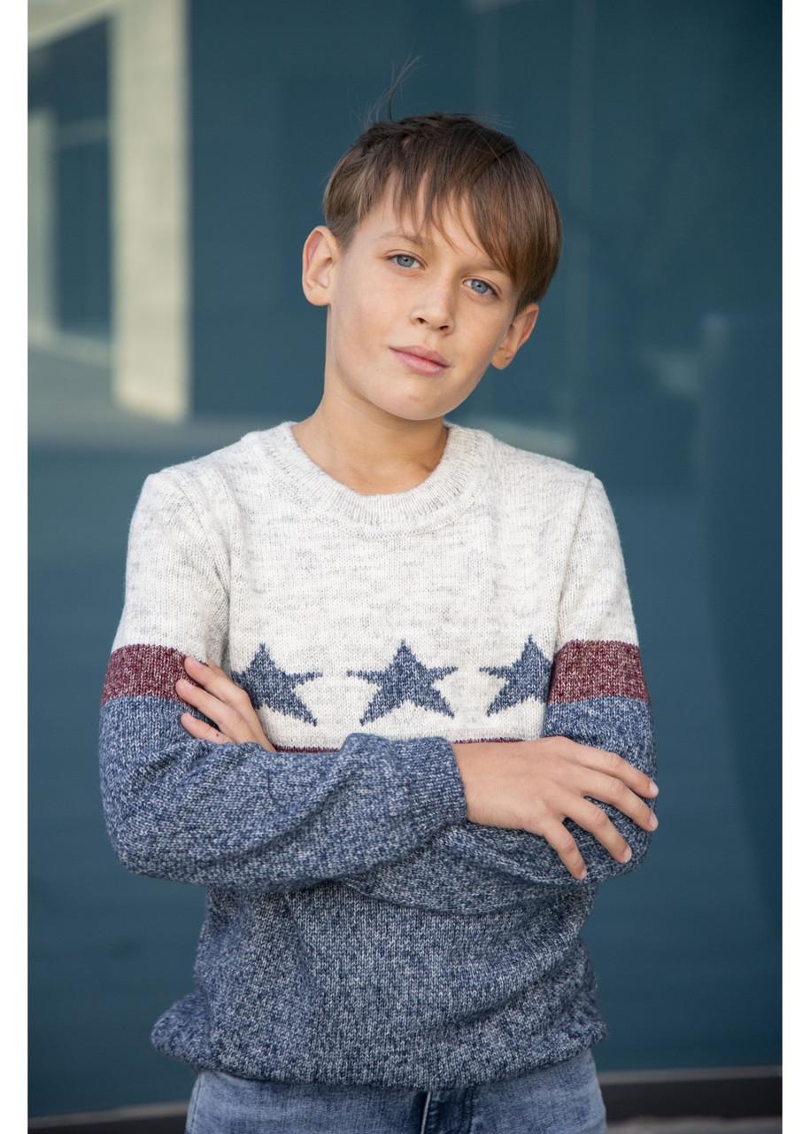 Джемпер з зірками Каліфорнія для хлопчиків р 122-152