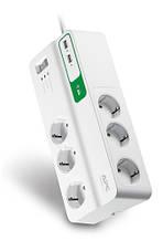 Фильтр APC Essential SurgeArrest 6 розеток + 2 USB (5V, 2.4A)