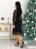 Платье женское с кружевом вечернее нарядное, фото 3