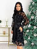 Платье женское с кружевом вечернее нарядное, фото 2