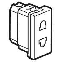 MOSAIC Legrand розетка електрическая со шторками (16А, 250В, винтовые клеммы) 1мод, белый