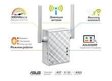 Повторитель Wi-Fi сигнала ASUS RP-N12 802.11n 2.4 ГГц, N300, 1хFE LAN
