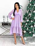 Платье женское в горошек свободное длинное вечернее нарядное, фото 9