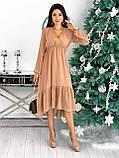 Платье женское в горошек свободное длинное вечернее нарядное, фото 6