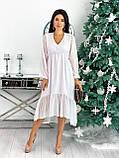 Платье женское в горошек свободное длинное вечернее нарядное, фото 7