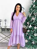 Платье женское в горошек свободное длинное вечернее нарядное, фото 10