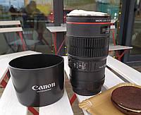 Большая чашка- и кружка-объектив Canon EF 100 Macro.