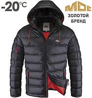 Мужская куртка МОС | 131 графит - красный