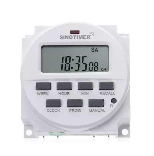 Таймер недельный Sinotimer TM618N-2 программируемый многофункциональный 220V переменного тока