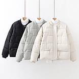 Женская демисезонная короткая куртка с рукавом регланом (р. 42-44) vN10626, фото 4