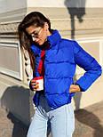 Женская короткая дутая куртка с воротником стойкой на кнопках (р. 42-46) vN10632, фото 4