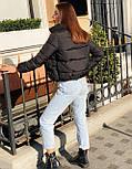 Женская короткая дутая куртка с воротником стойкой на кнопках (р. 42-46) vN10632, фото 7