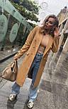 Женское классическое пальто на распашку из кашемира и с пуговицами (р. 40-58) vN10634, фото 2