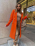 Женское классическое пальто на распашку из кашемира и с пуговицами (р. 40-58) vN10634, фото 4