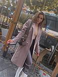 Женское классическое пальто на распашку из кашемира и с пуговицами (р. 40-58) vN10634, фото 5