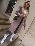 Женское классическое пальто на распашку из кашемира и с пуговицами (р. 40-58) vN10634, фото 6