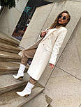 Женское классическое пальто на распашку из кашемира и с пуговицами (р. 40-58) vN10634, фото 7