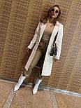 Женское классическое пальто на распашку из кашемира и с пуговицами (р. 40-58) vN10634, фото 8