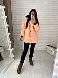 Женская двухсторонняя куртка зимняя под пояс с капюшоном (р. 42-46) vN10638, фото 6