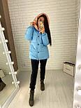 Женская двухсторонняя куртка зимняя под пояс с капюшоном (р. 42-46) vN10638, фото 9