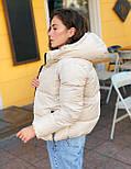 Женская теплая короткая куртка на молнии с капюшоном (р. 42-46) vN10645, фото 3