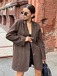 Женское пиджак - пальто с карманами, декорирован пуговицами (р. 42-46) vN10654, фото 2