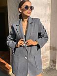 Женское пиджак - пальто с карманами, декорирован пуговицами (р. 42-46) vN10654, фото 4