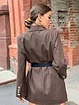 Женское пиджак - пальто с карманами, декорирован пуговицами (р. 42-46) vN10654, фото 5