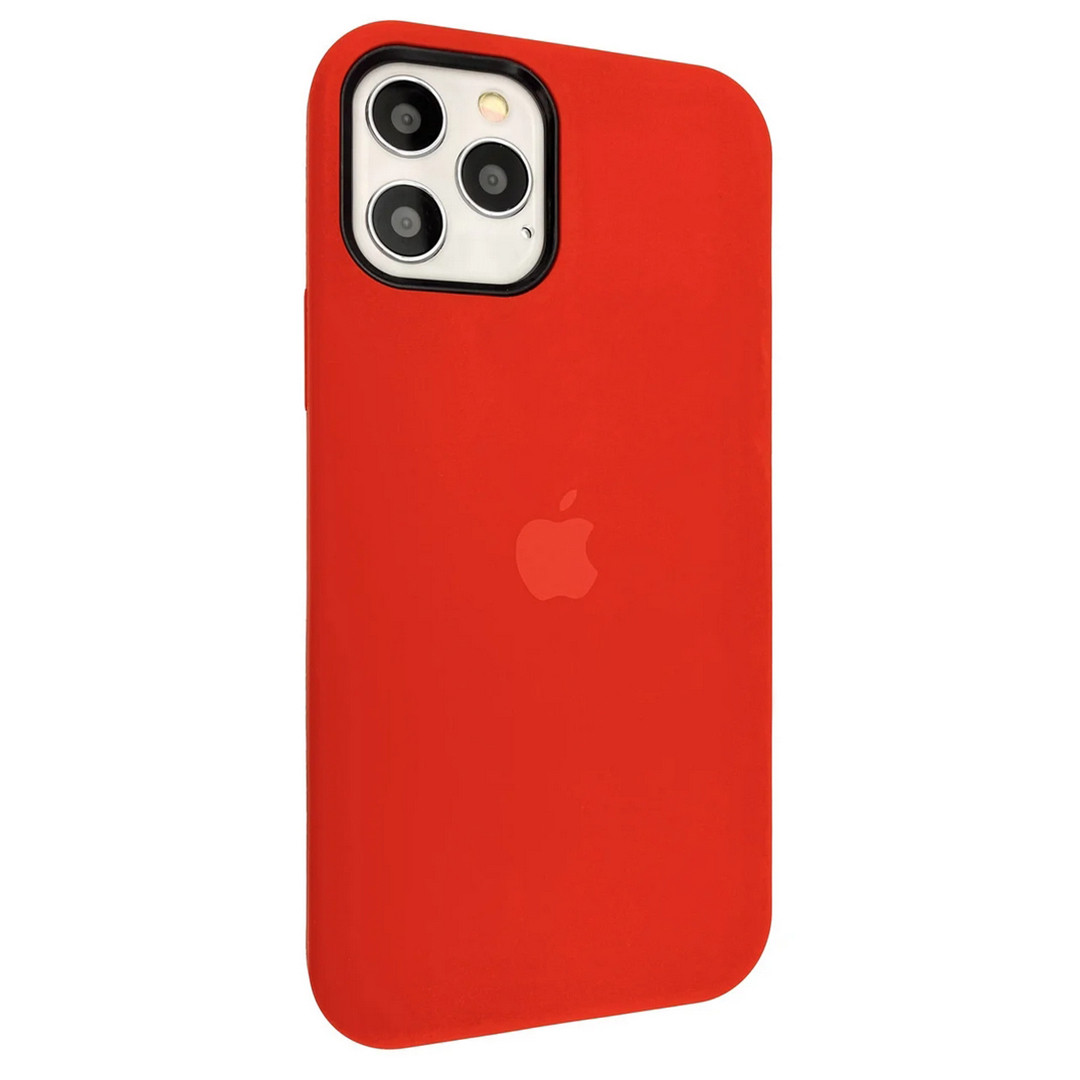 Силиконовый чехол Silicone case full cover для Apple iPhone 12 Pro Max | Red | DK
